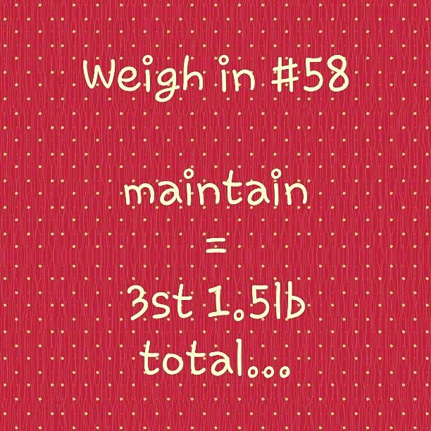 Slimming World weigh in 58