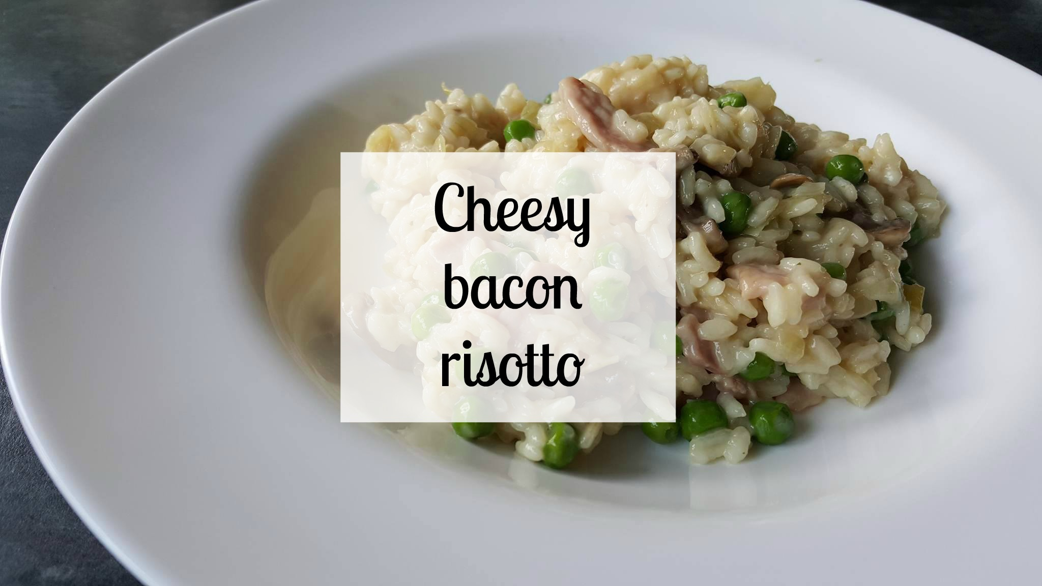 Cheesy bacon Slimming World risotto
