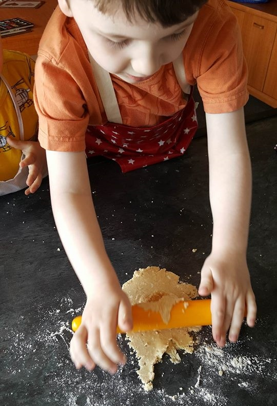 Messy Apron review biscuit making