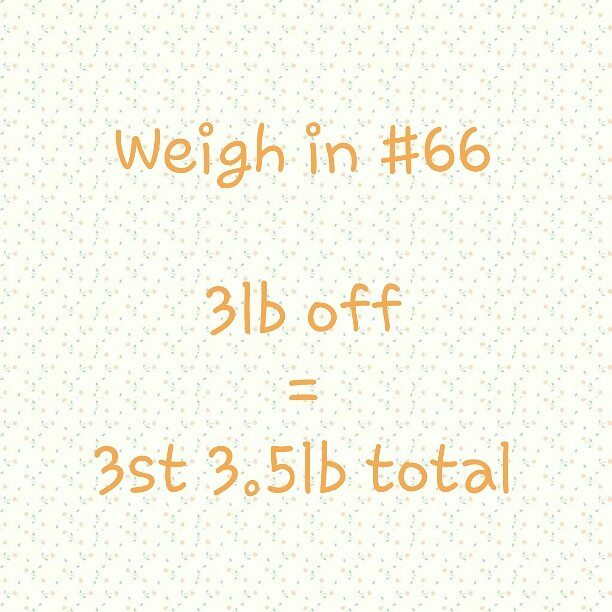 Slimming World weigh in 66