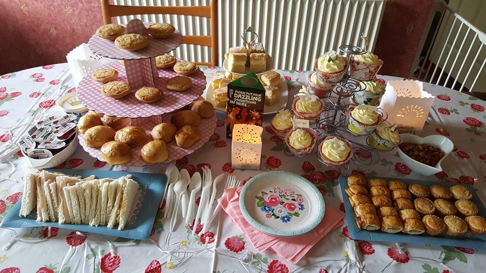 Afternoon tea for Macmillan Summer Lights