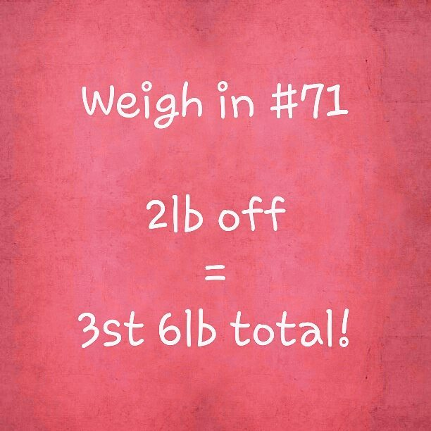 Slimming World weigh in 71