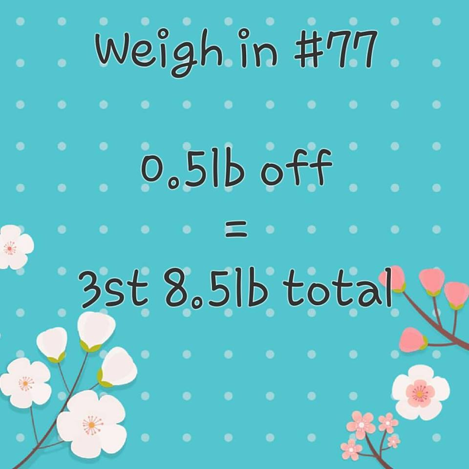 Slimming World weigh in 77