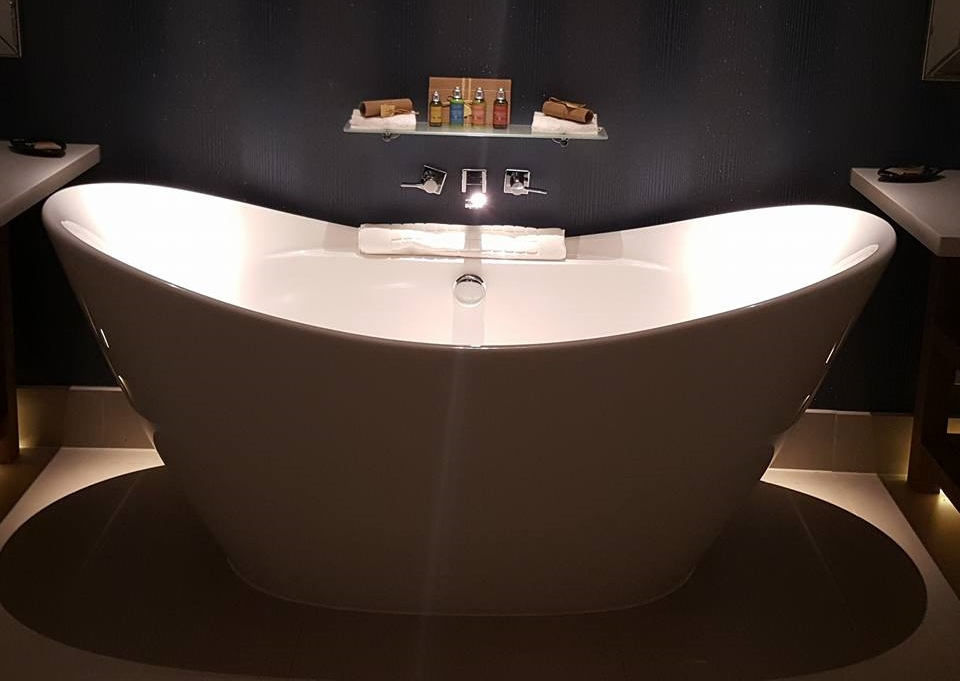 Amazing freestanding bath at the spa