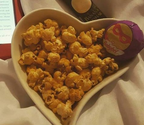 August Degustbox Willy Chase's fit popcorn