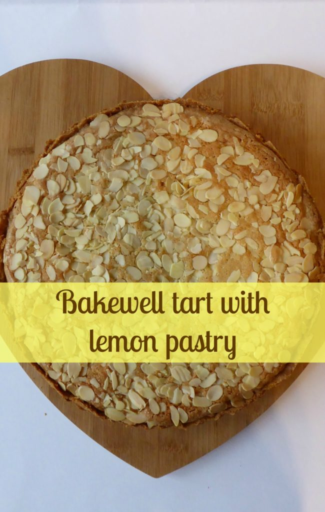 Bakewell tart with lemon pastry - Pin It