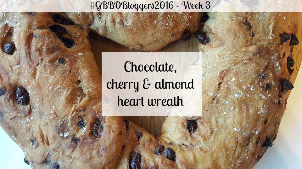 Chocolate, cherry & almond wreath recipe
