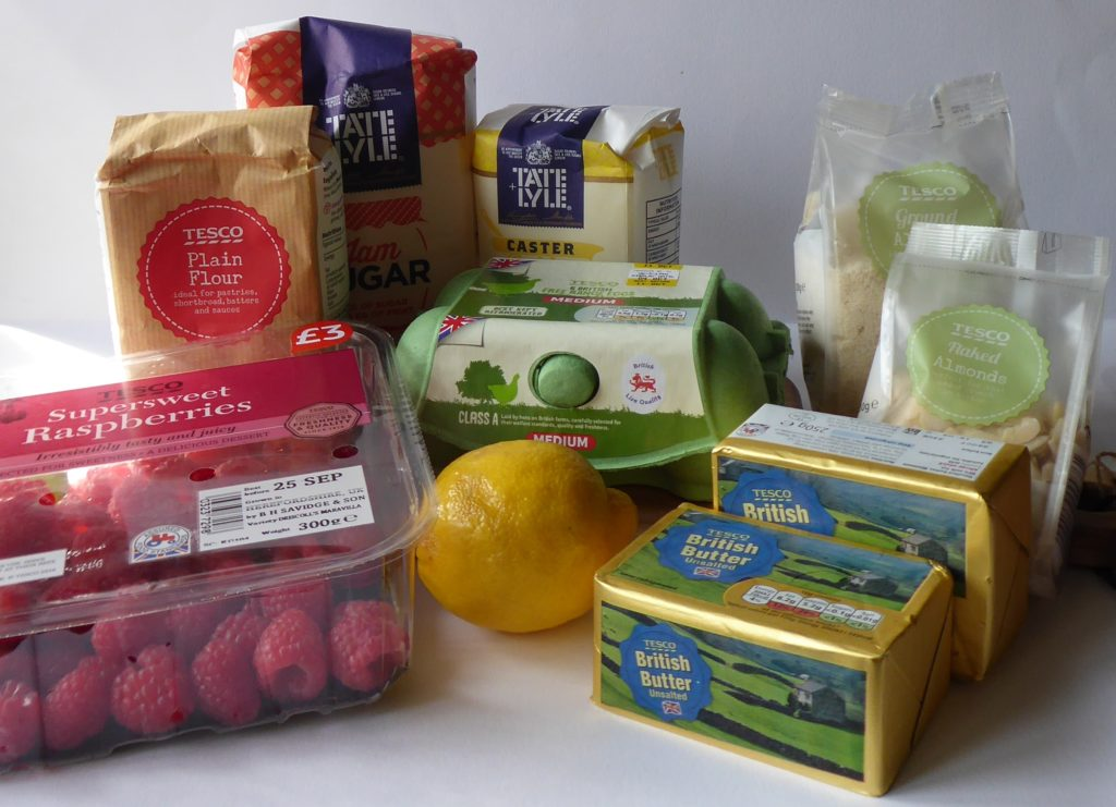 Tesco ingredients bought with voucher provided for pastry week