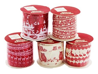 Festive ribbon trim 5 pack from The Works