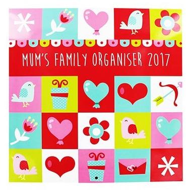 Mum's Family Organiser 2017 calendar from The Works