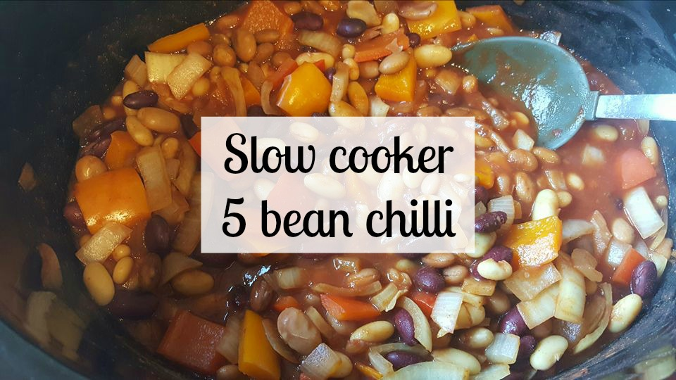 Slow cooker 5 bean chilli recipe. In slow cooker