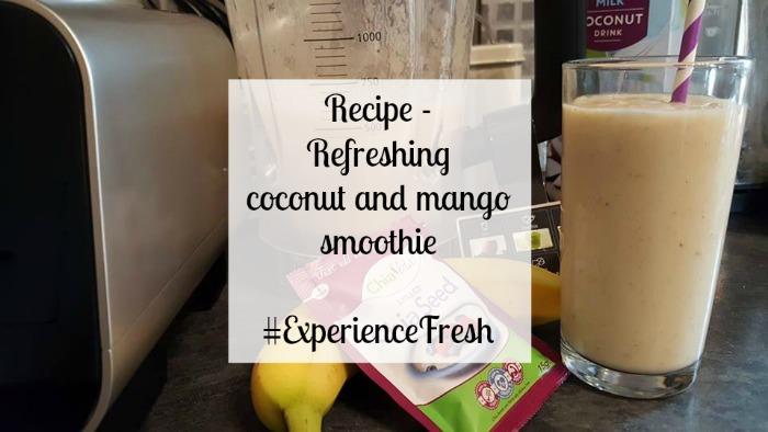 Coconut and mango smoothie