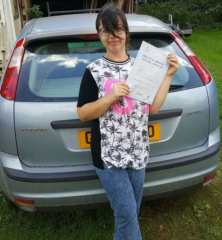 Driving test pass certificate