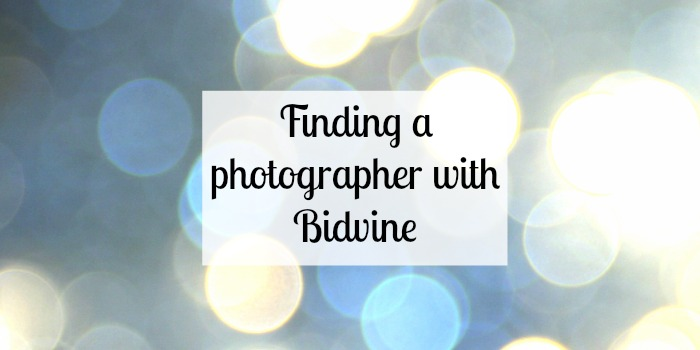 Finding a photographer with Bidvine