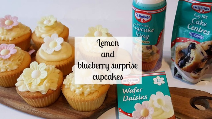 Lemon and blueberry surprise cupcakes - We Bake with Dr Oetker