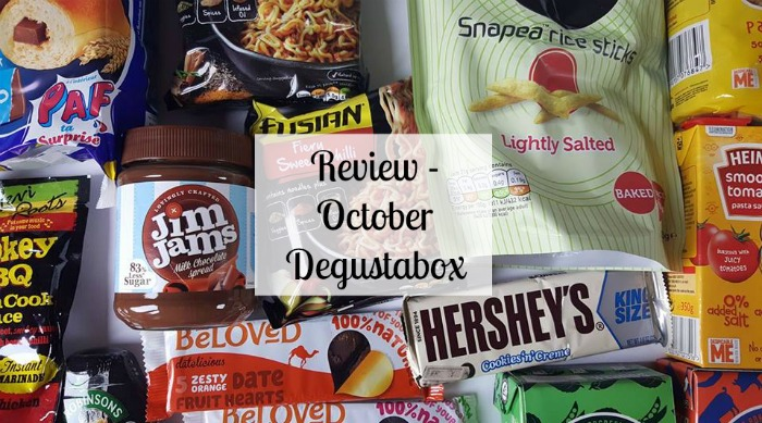 October Degustabox subscription Box review