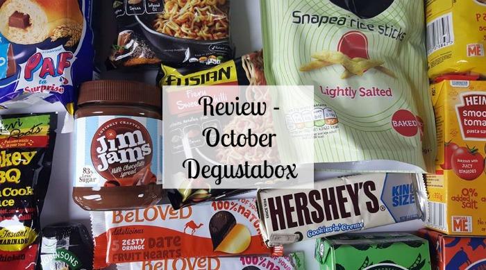 October Degustabox subscription Box review