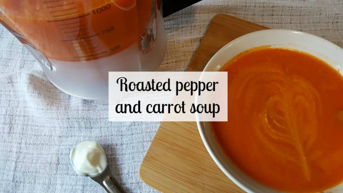 Roasted pepper and carrot soup