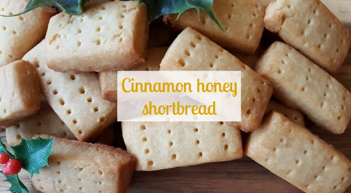 Cinnamon honey shortbread