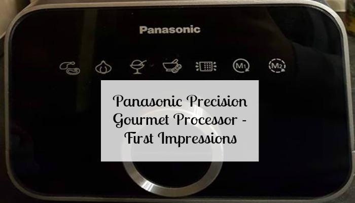 Panasonic Precision Gourmet Processor - First Impressions