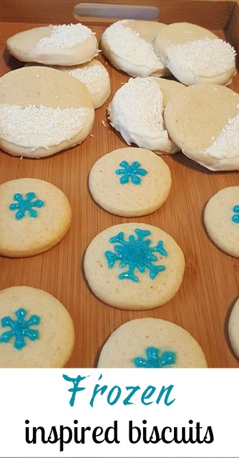 Frozen inspired biscuits - Pin It