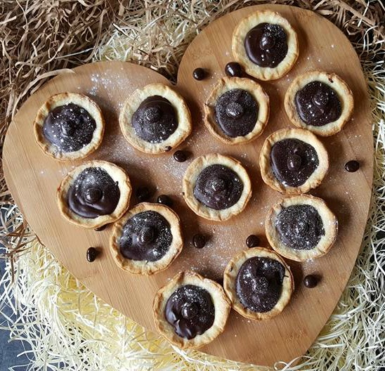 Chocolate coffee ganache tarts