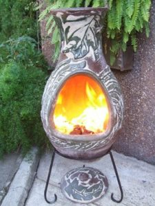 Four Elements Clay Chiminea