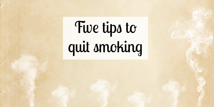 Five tips to quit smoking