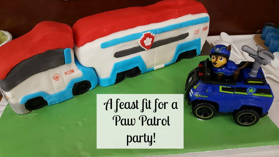 A feast fit for a Paw Patrol party