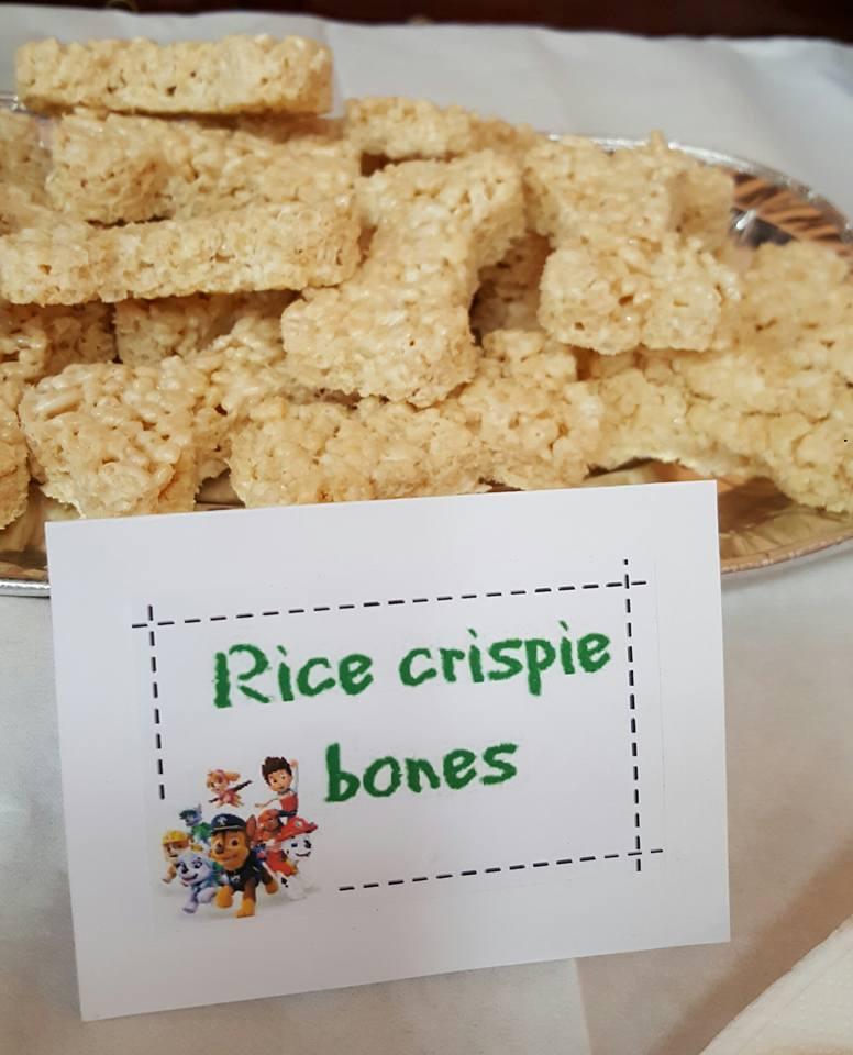 Rice crispie bones