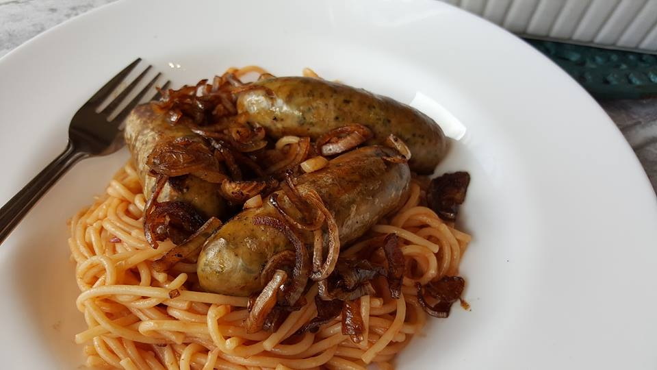 Baked MOR sausages