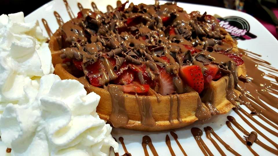 Kaspa's strawberry indulge waffle