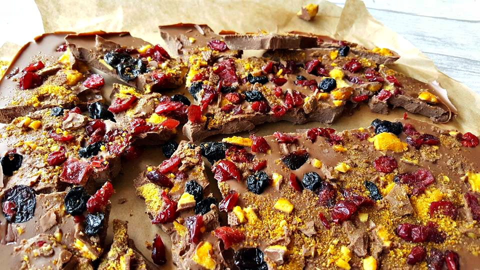 Milk chocolate honeycomb bark