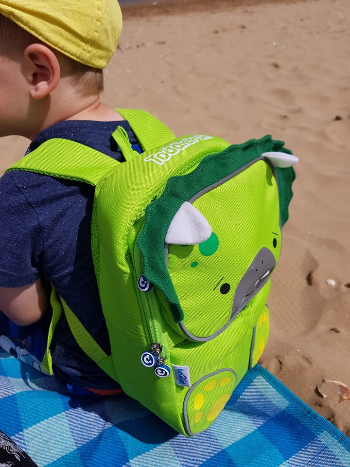 Toddlepak backpack - at the beach