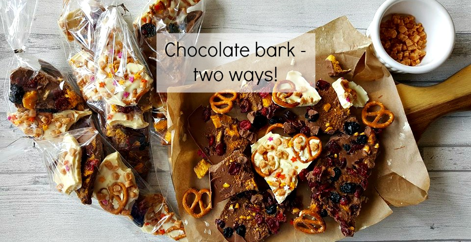 chocolate bark - two ways