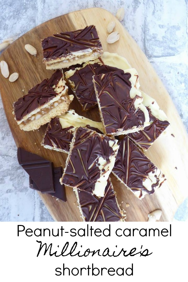 Peanut-salted caramel Millionaire's shortbread Pin It