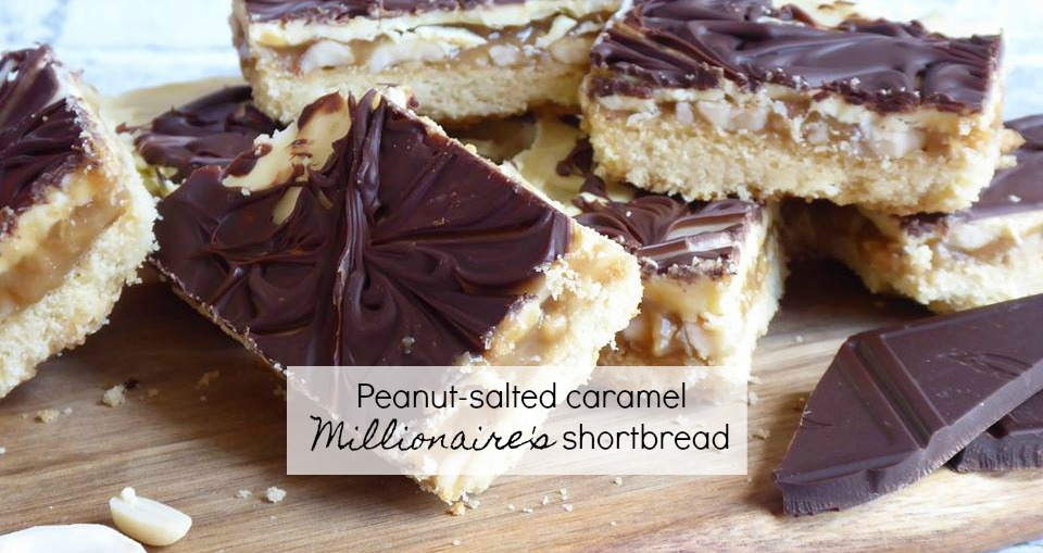 Peanut-salted caramel Millionaire's shortbread recipe