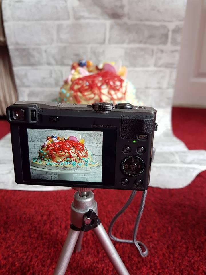 Sweet explosion cake