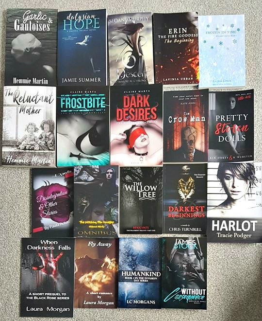 Darker signing books
