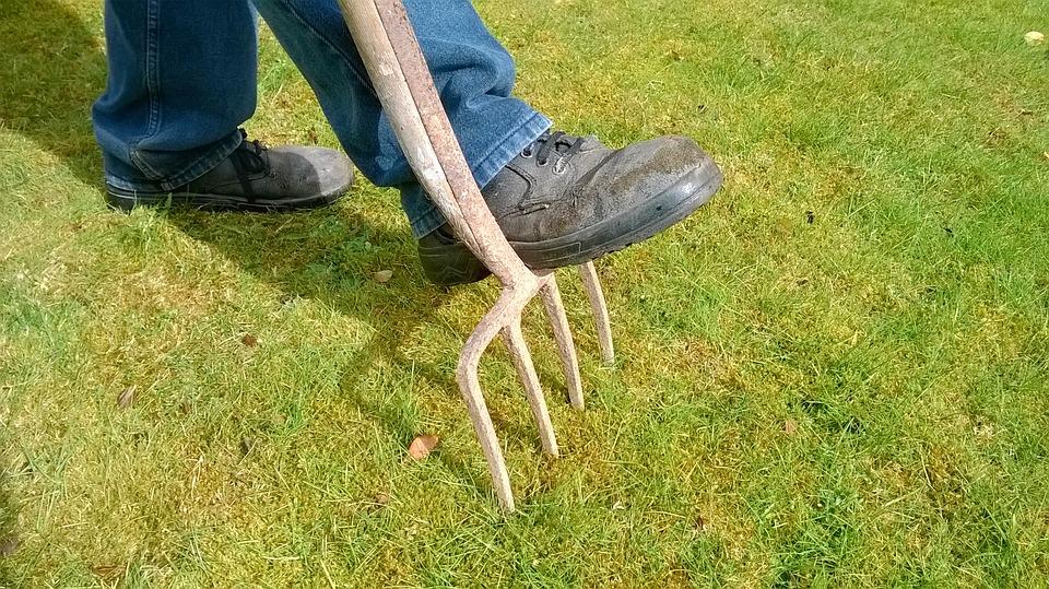 garden fork, digging a garden