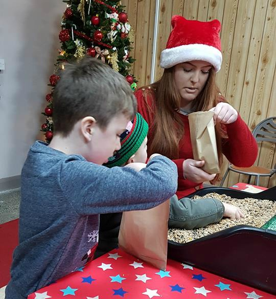 Santa visit - making reindeer dust