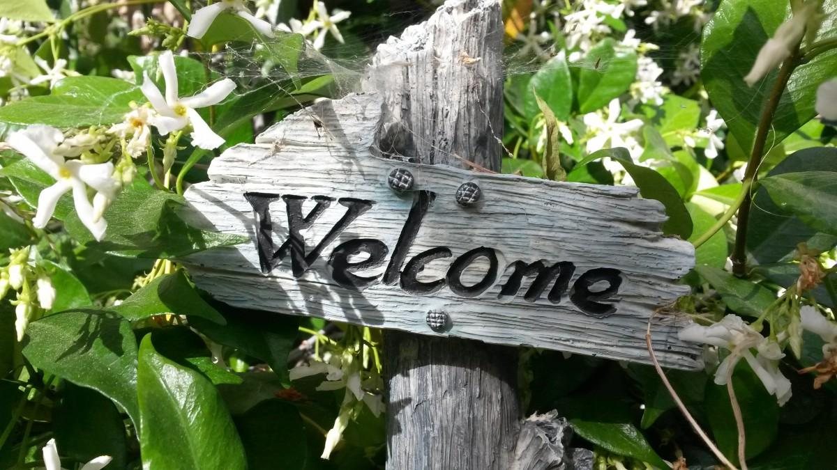 welcome garden sign, Is Your Garden Ready For Guests?