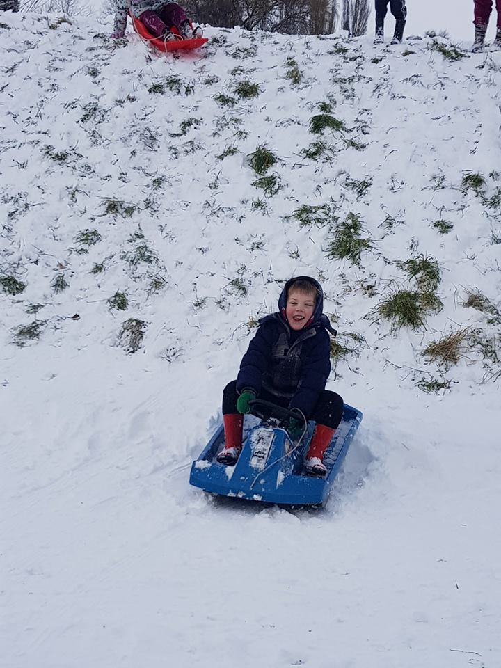 Snow, sledging
