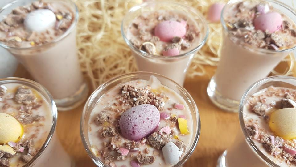 Mini egg mousse pots, Slimming World friendly
