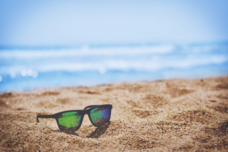summer holiday, sunglasses, beach