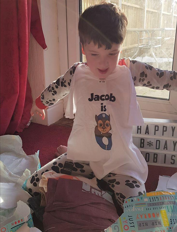 Jacob's birthday, birthday t shirt, Jacob is 6