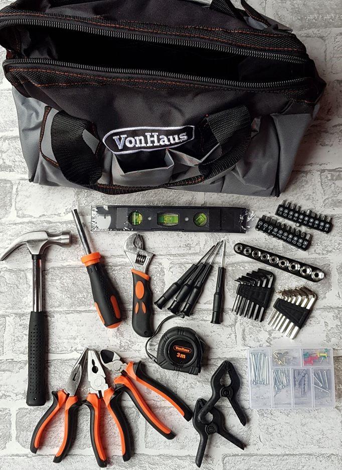 VonHaus 92 piece tool kit & bag