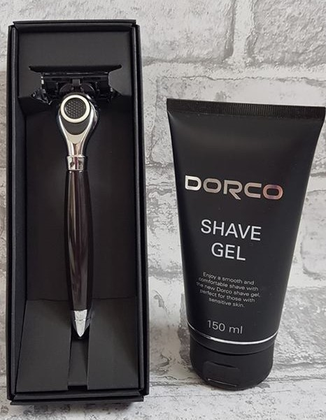 Dorco classic razor and shave gel