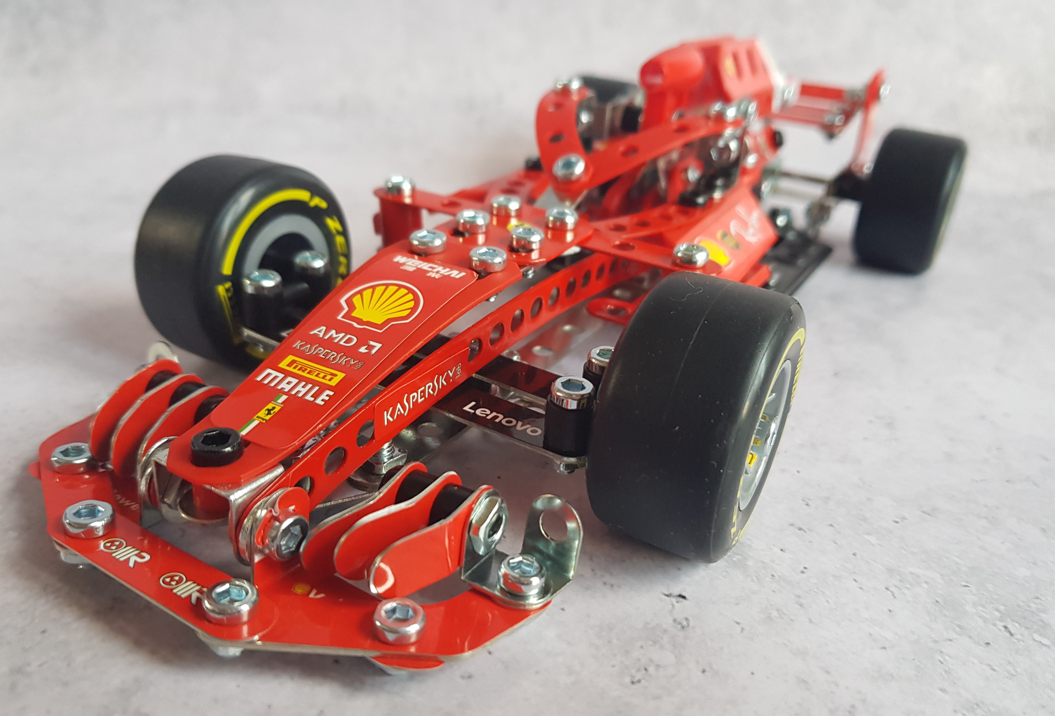 Meccano Ferrari Formula 1 vehicle front view