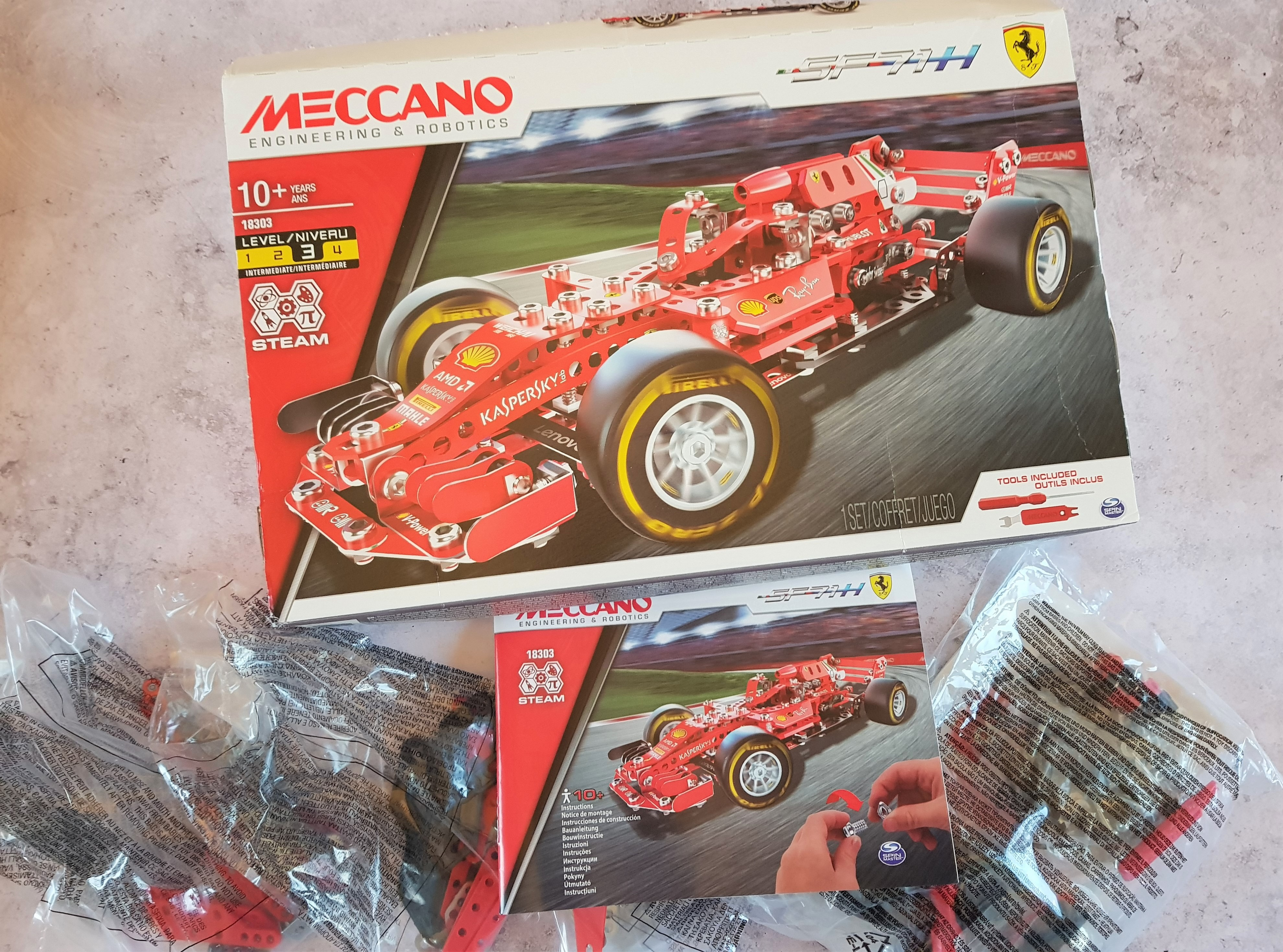 Meccano Ferrari Formula 1 vehicle parts